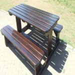 Wooden benches and kiddies's benches