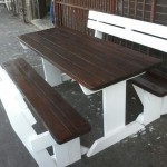Rustic Pine Table Benches,