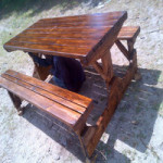 Wooden lawn furniture and Benches