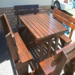 Outdoor Benches & Table Sets Supplied In Cape Town