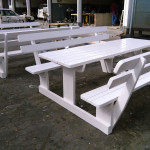 white wooden benches west cost, parklands