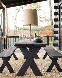 patio furniture and benches