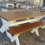 patio benches, crossed legs benches, wooden benches